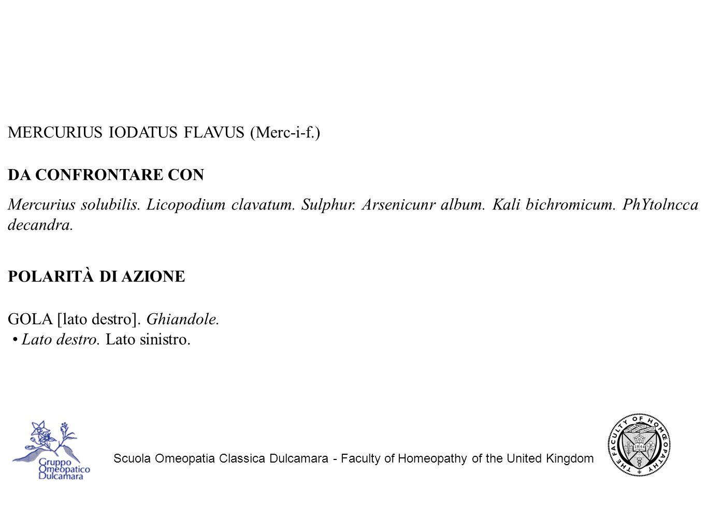 MERCURIUS IODATUS FLAVUS (Merc-i-f.) DA CONFRONTARE CON