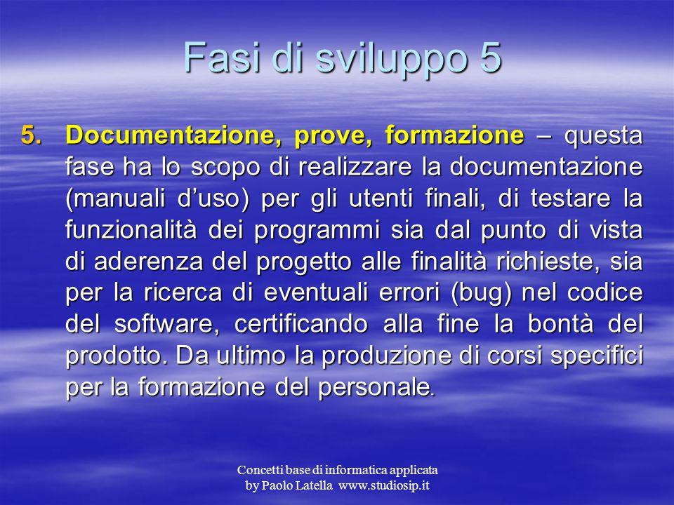 Fasi di sviluppo 5