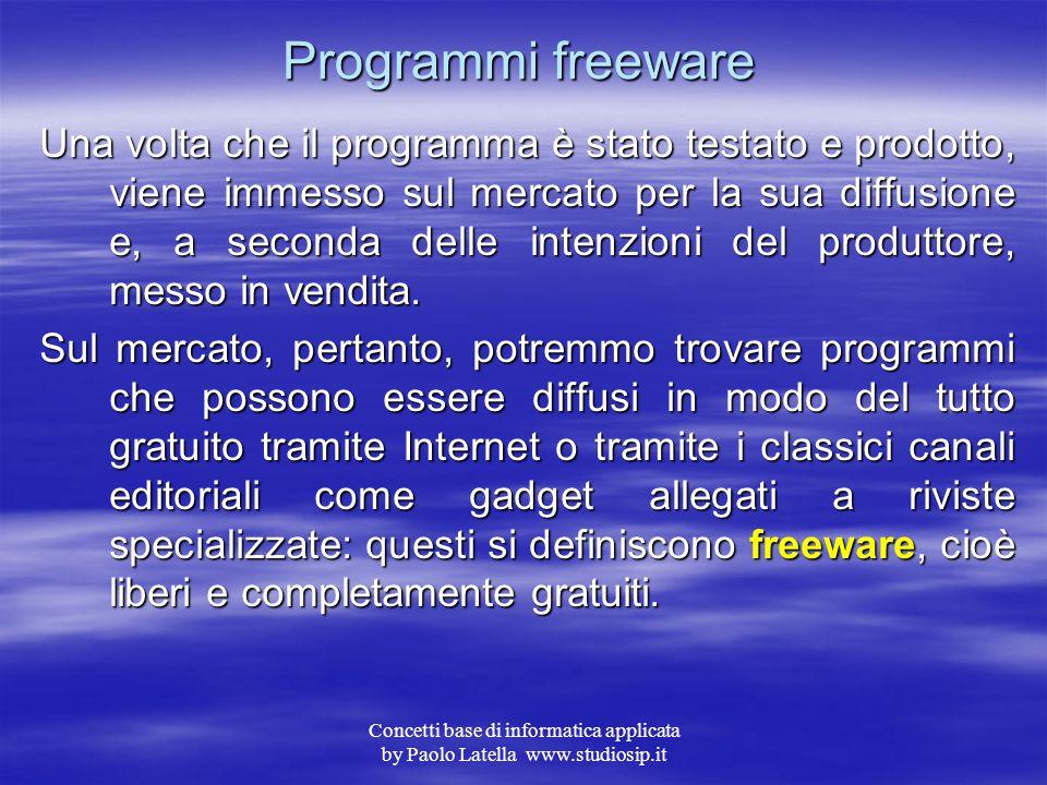 Programmi freeware