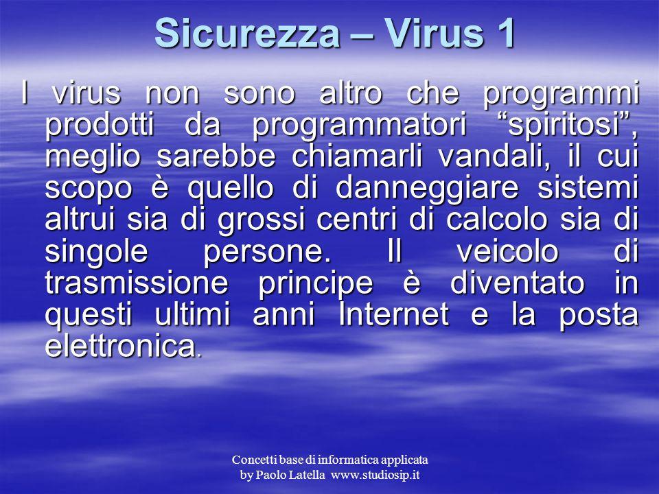 Sicurezza – Virus 1