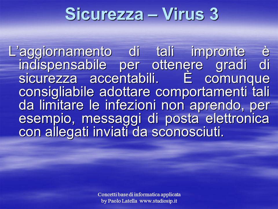 Sicurezza – Virus 3
