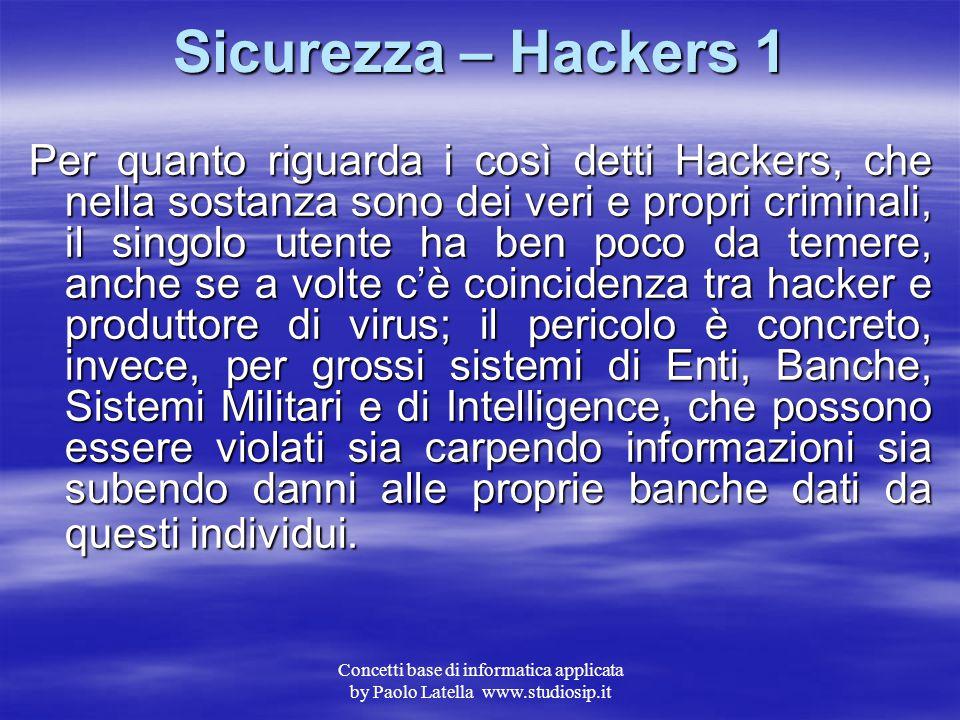 Sicurezza – Hackers 1
