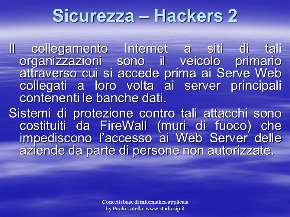 Sicurezza – Hackers 2