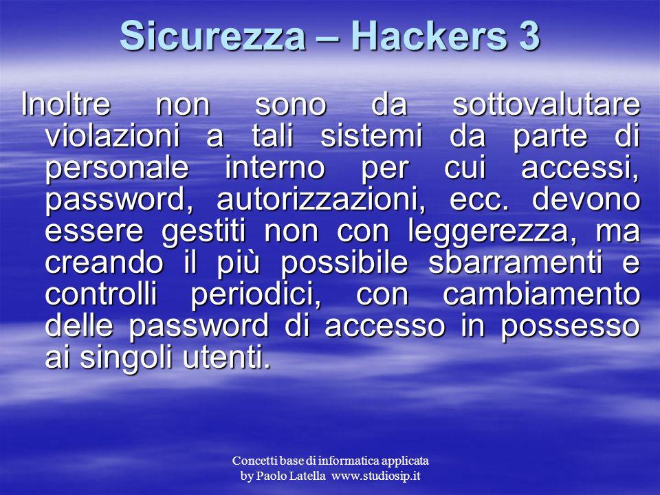 Sicurezza – Hackers 3