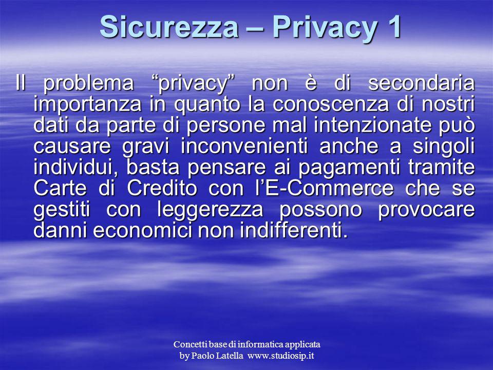 Sicurezza – Privacy 1