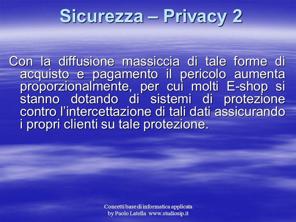Sicurezza – Privacy 2