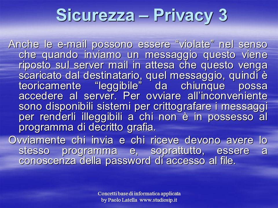 Sicurezza – Privacy 3