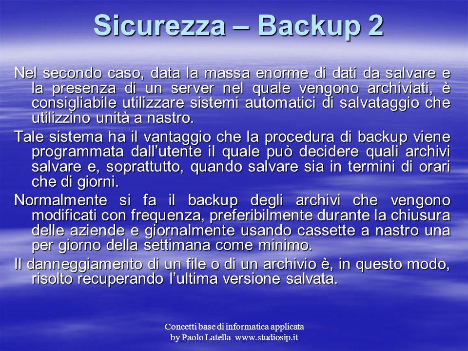 Sicurezza – Backup 2