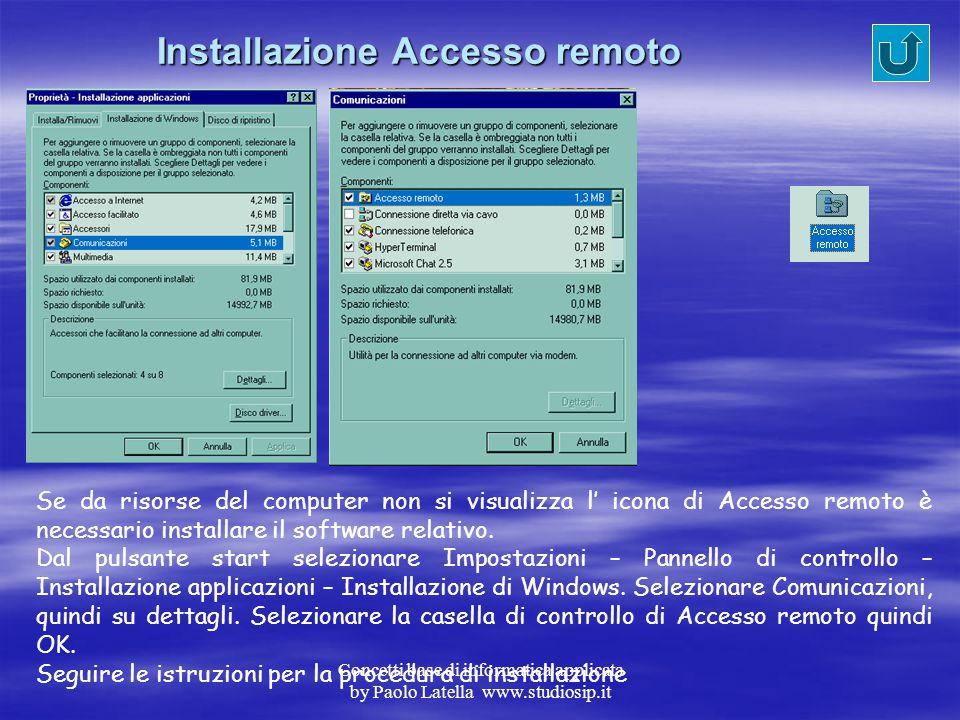 Installazione Accesso remoto