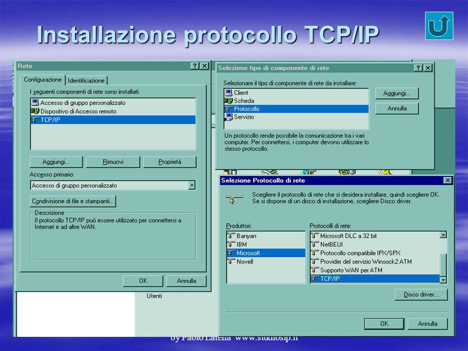 Installazione protocollo TCP/IP