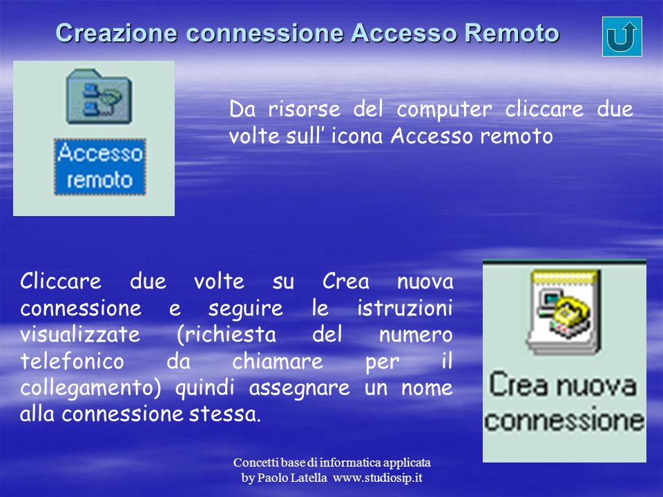 Creazione connessione Accesso Remoto