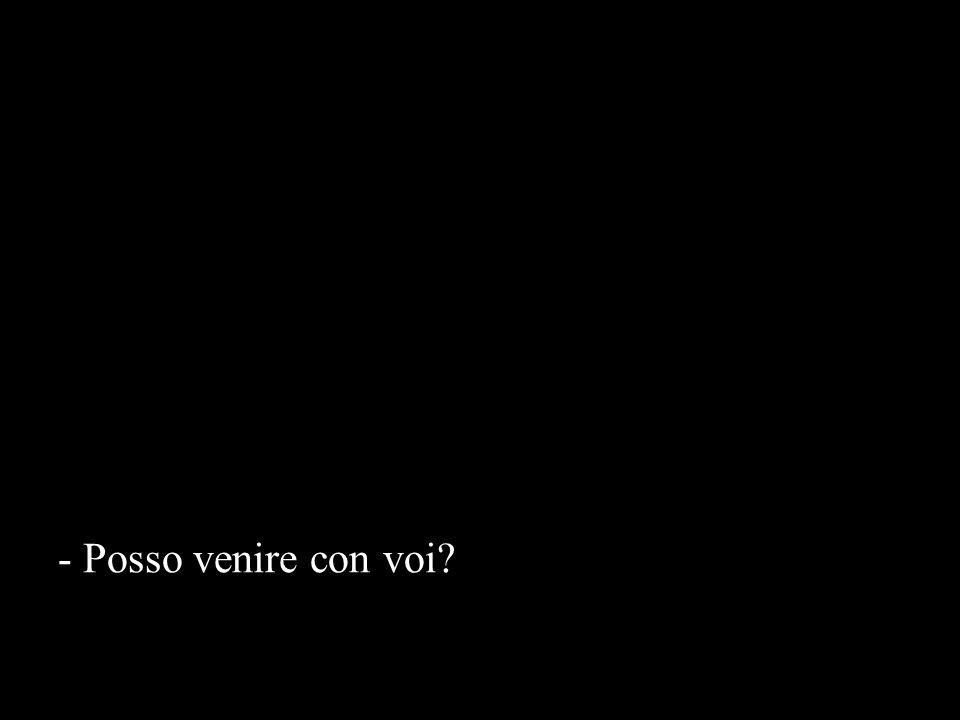 - Posso venire con voi
