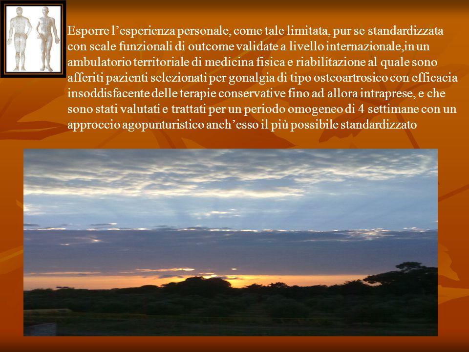 Esporre l'esperienza personale, come tale limitata, pur se standardizzata