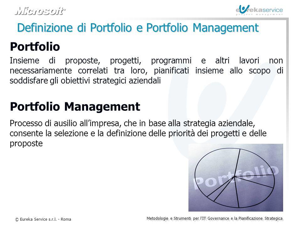Definizione di Portfolio e Portfolio Management
