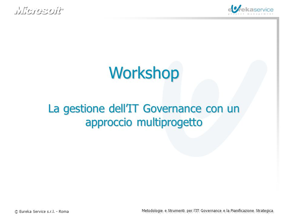 La gestione dell'IT Governance con un approccio multiprogetto