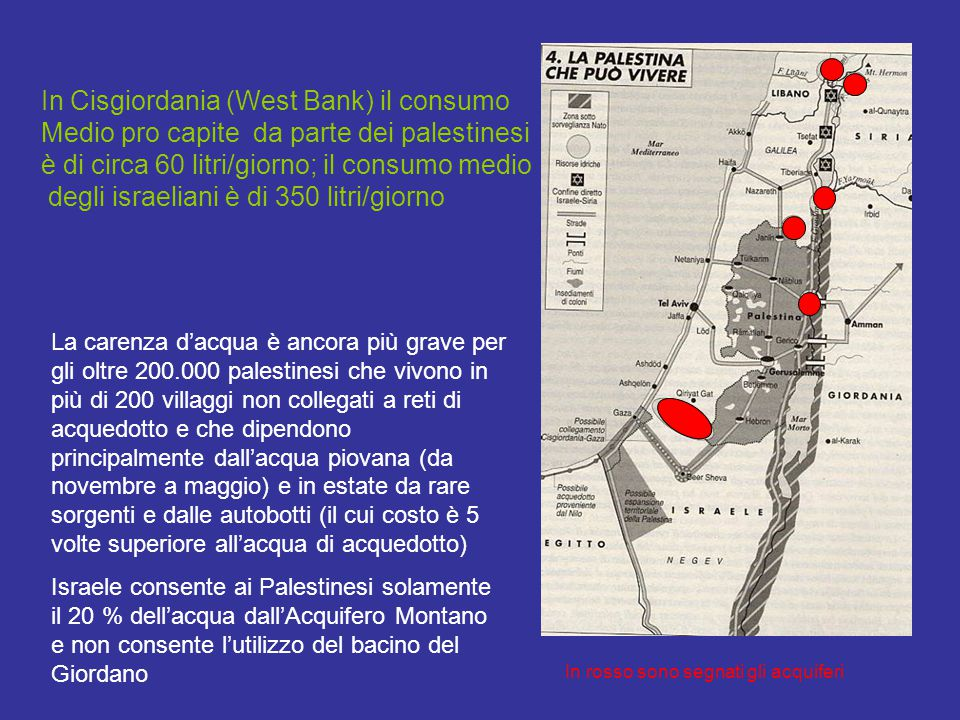 In Cisgiordania (West Bank) il consumo