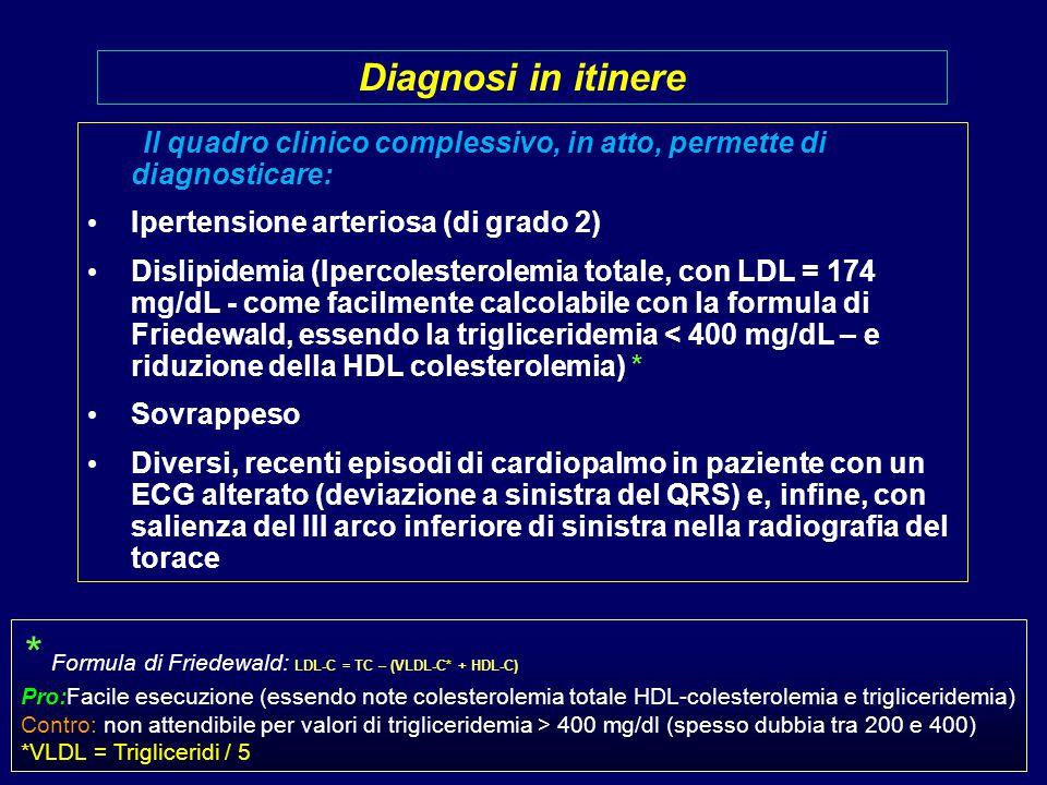 * Formula di Friedewald: LDL-C = TC – (VLDL-C* + HDL-C)