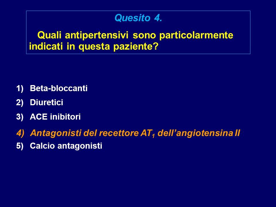 Quali antipertensivi sono particolarmente indicati in questa paziente