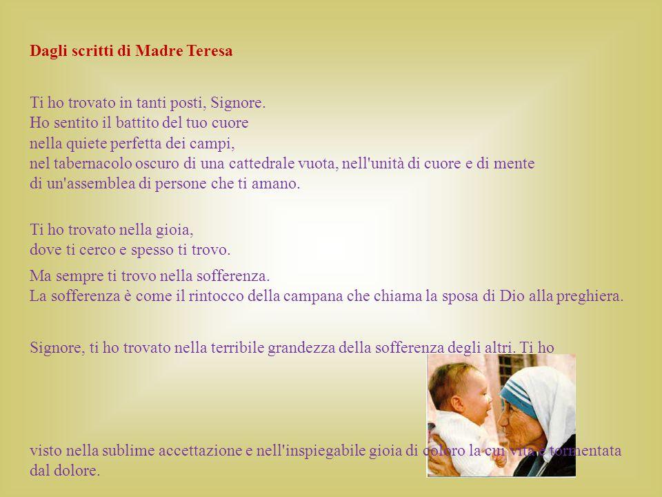 Dagli scritti di Madre Teresa