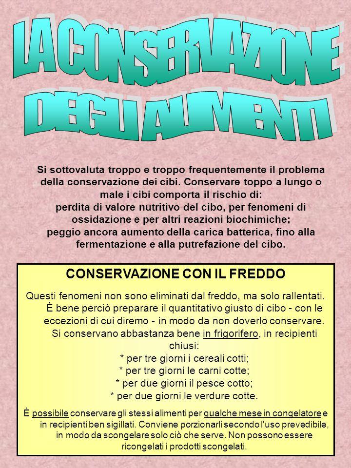 CONSERVAZIONE CON IL FREDDO