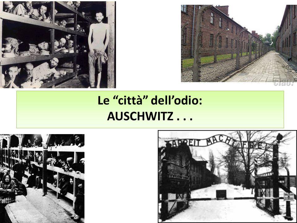 Le città dell'odio: AUSCHWITZ . . .