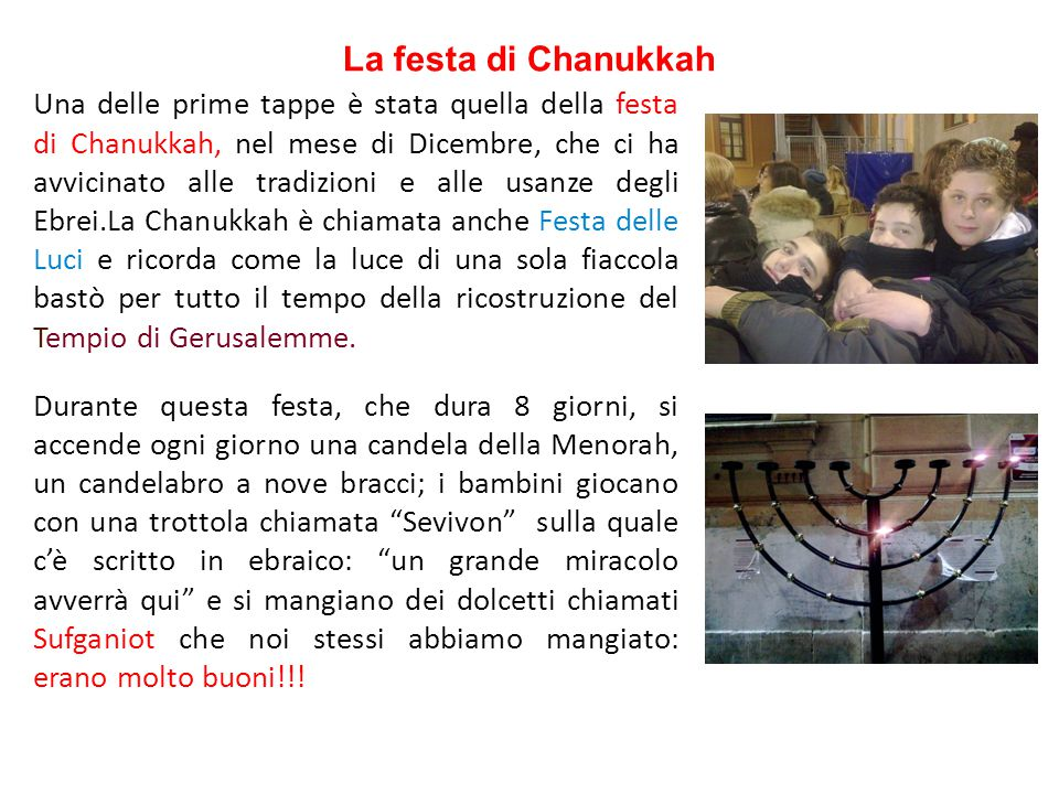 La festa di Chanukkah