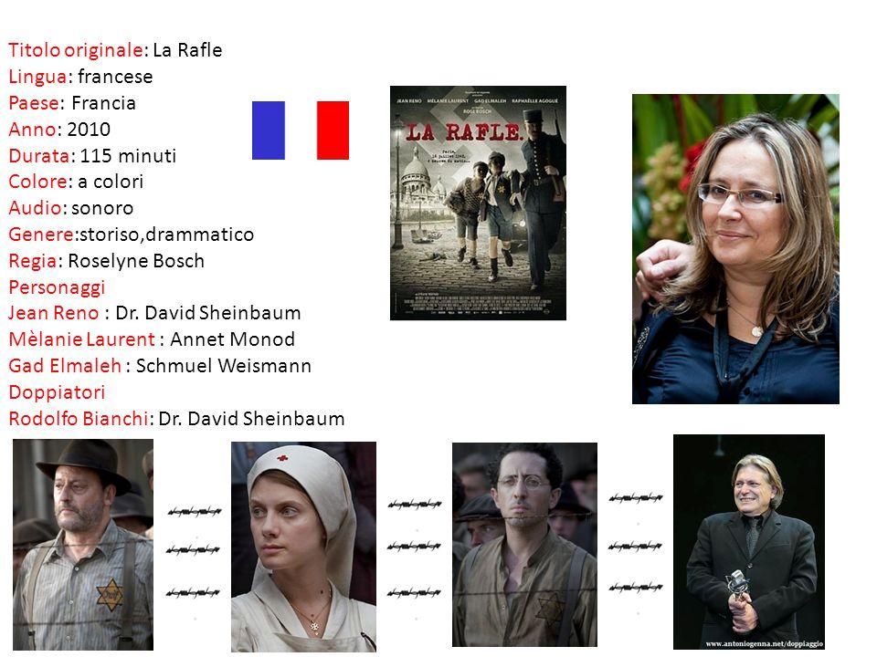 Titolo originale: La Rafle Lingua: francese Paese: Francia Anno: 2010