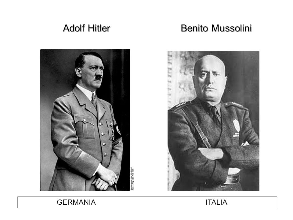 Adolf Hitler Benito Mussolini