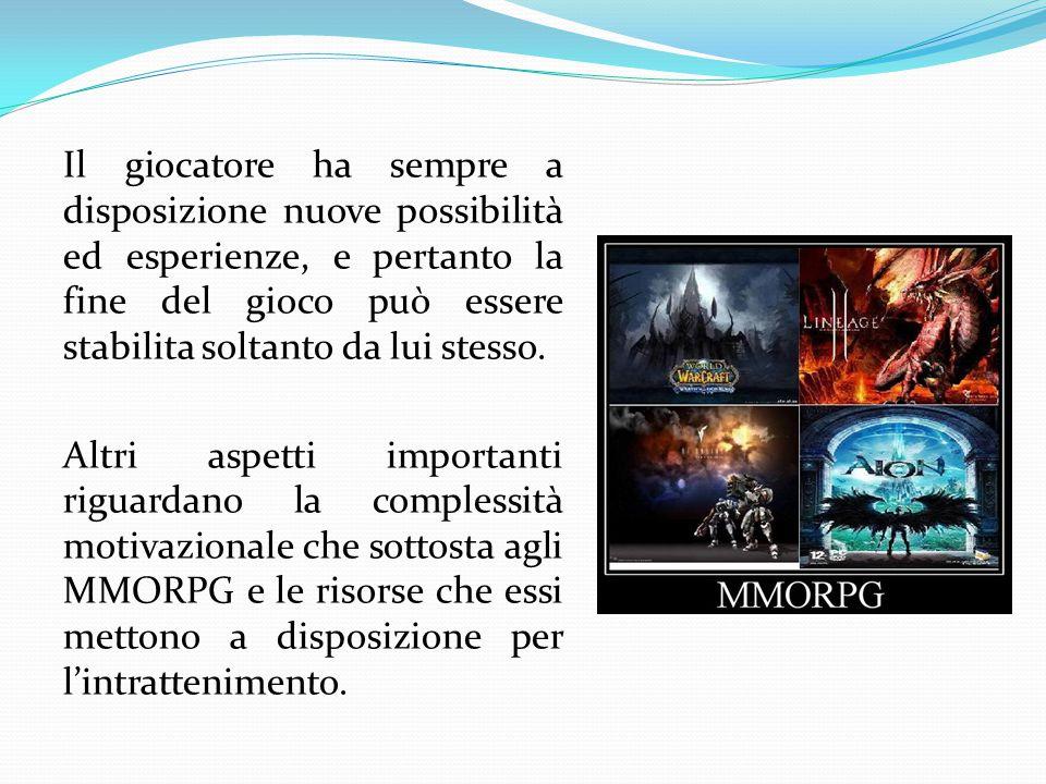Il giocatore ha sempre a disposizione nuove possibilità ed esperienze, e pertanto la fine del gioco può essere stabilita soltanto da lui stesso.
