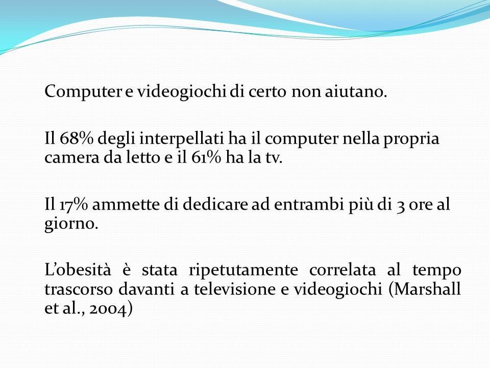 Computer e videogiochi di certo non aiutano