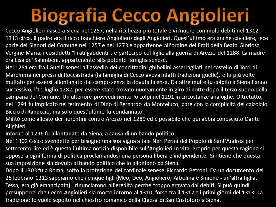 Biografia Cecco Angiolieri