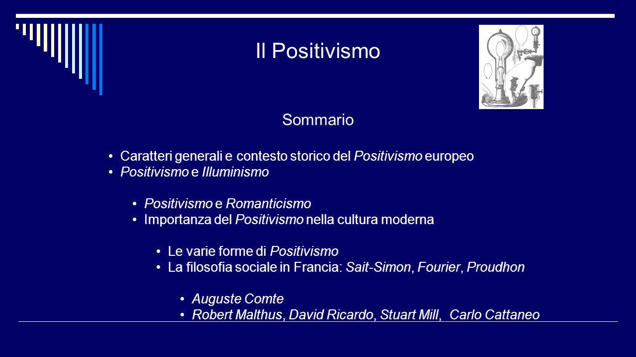 Il Positivismo Sommario