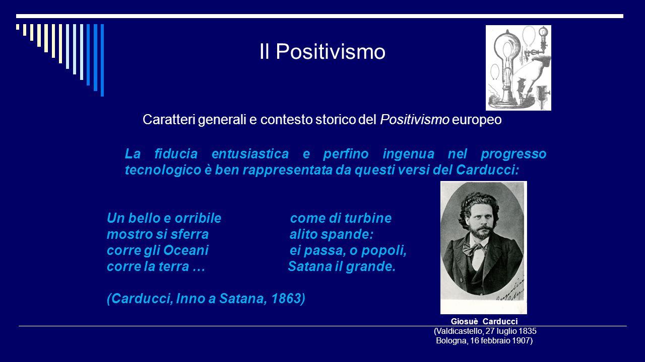 Il Positivismo Caratteri generali e contesto storico del Positivismo europeo.