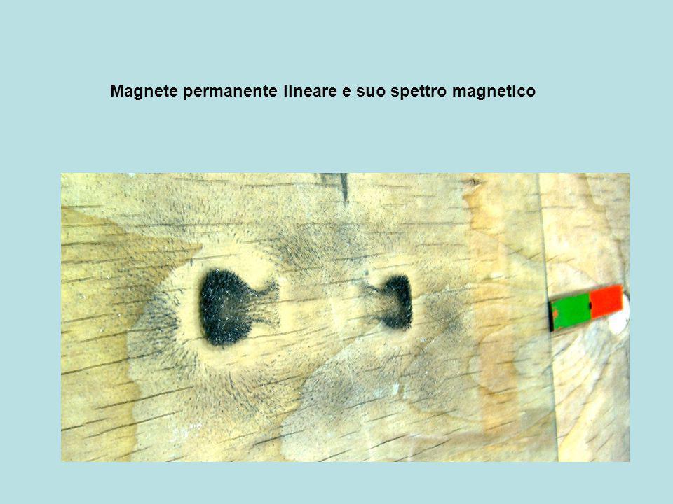 Magnete permanente lineare e suo spettro magnetico