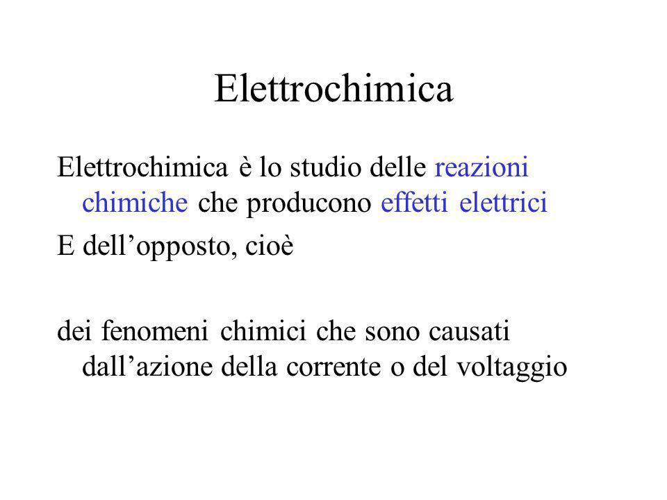 Elettrochimica Elettrochimica è lo studio delle reazioni chimiche che producono effetti elettrici. E dell'opposto, cioè.