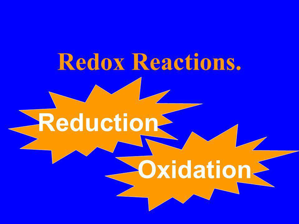 Redox Reactions. Reduction Oxidation
