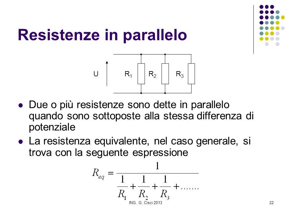 Resistenze in parallelo
