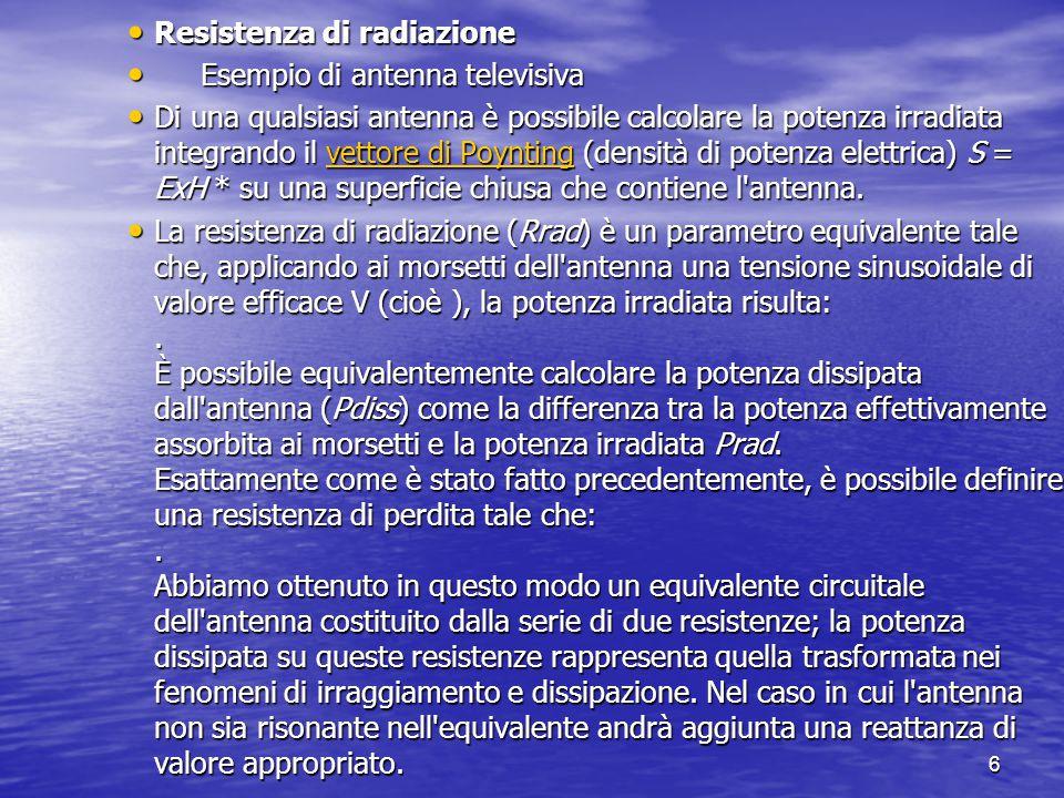Resistenza di radiazione