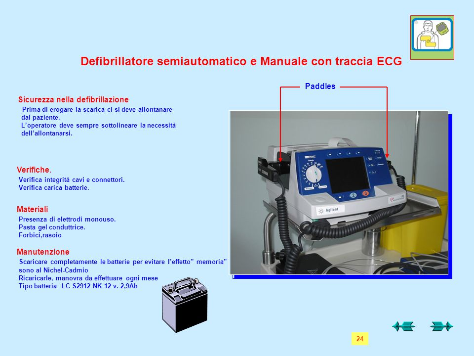 Defibrillatore semiautomatico e Manuale con traccia ECG