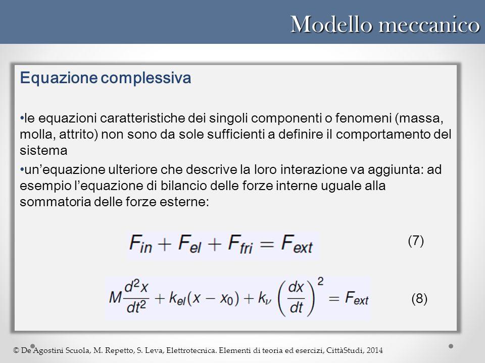Modello meccanico Equazione complessiva