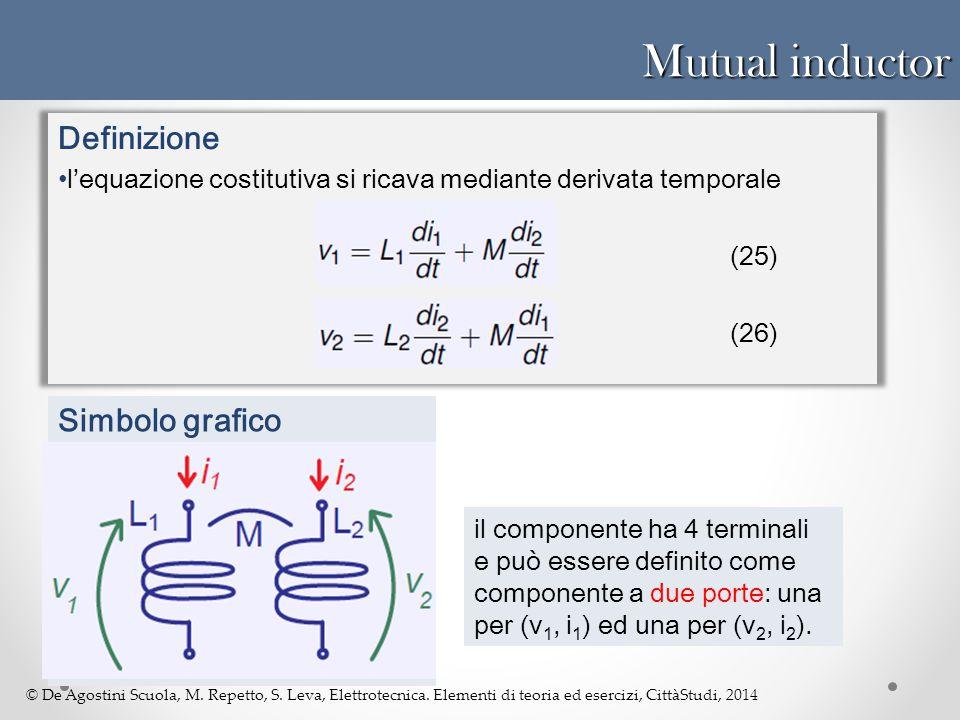 Mutual inductor Definizione Simbolo grafico