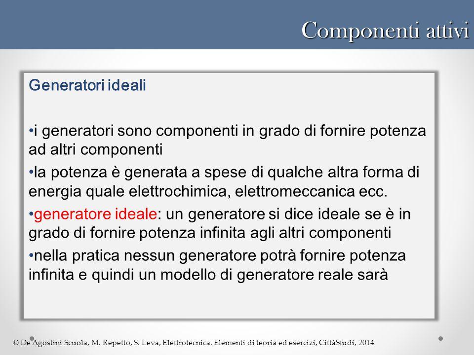 Componenti attivi Generatori ideali