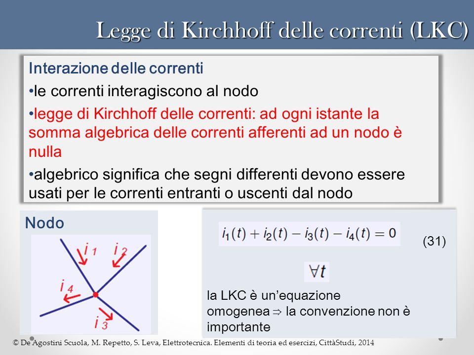 Legge di Kirchhoff delle correnti (LKC)