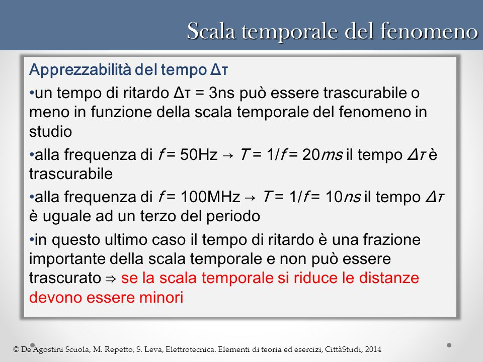 Scala temporale del fenomeno