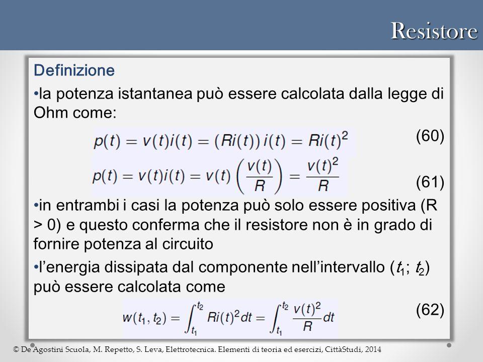 Resistore Definizione
