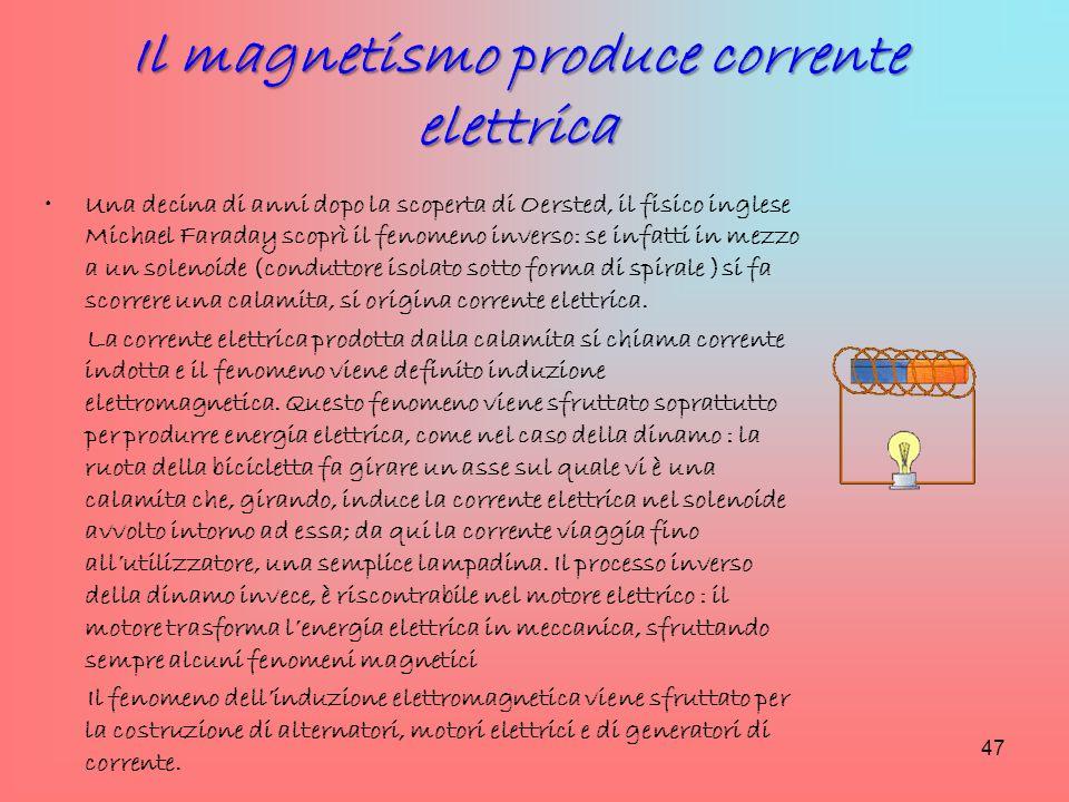 Il magnetismo produce corrente elettrica