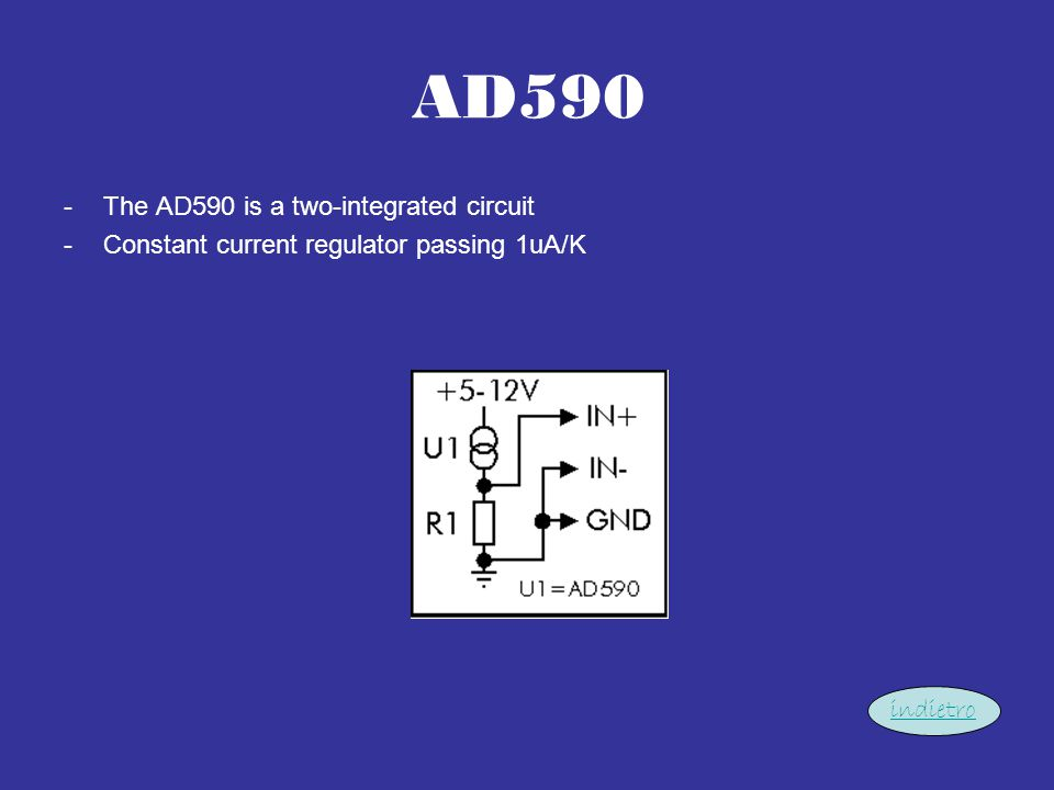 AD590 The AD590 is a two-integrated circuit