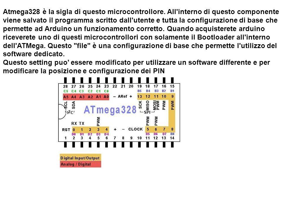 Atmega328 è la sigla di questo microcontrollore