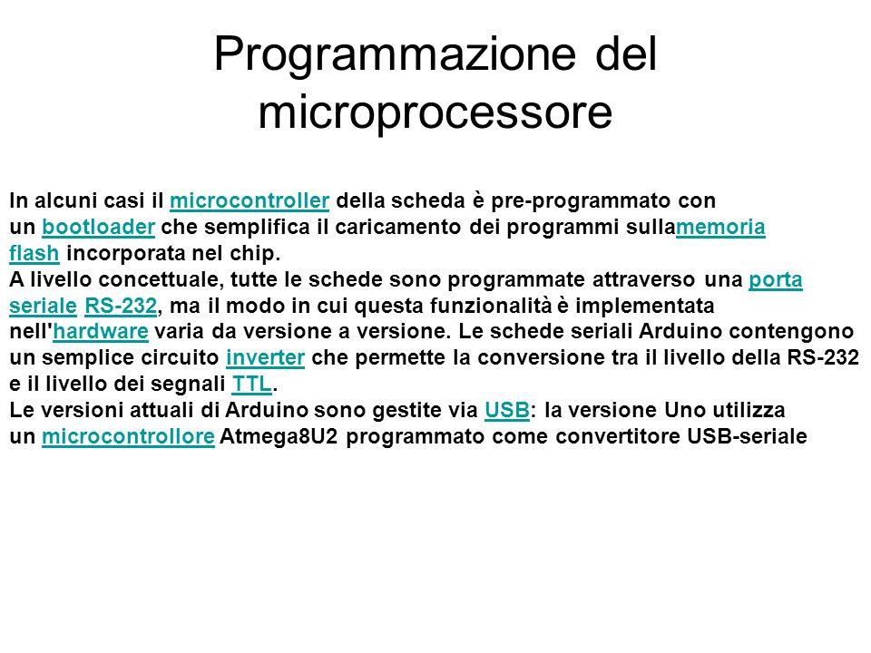 Programmazione del microprocessore