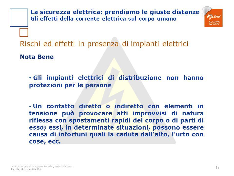 Rischi ed effetti in presenza di impianti elettrici